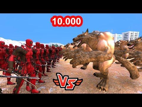 10.000 DEADPOOL VS 10.000 KURT ADAM 😱 - Süper Kahramanlar