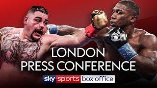 LIVE PRESS CONFERENCE! Andy Ruiz Jr vs Anthony Joshua 2 | London