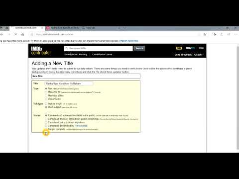 How To Add Movie Or Actor And Actress In IMDb (Part 2)