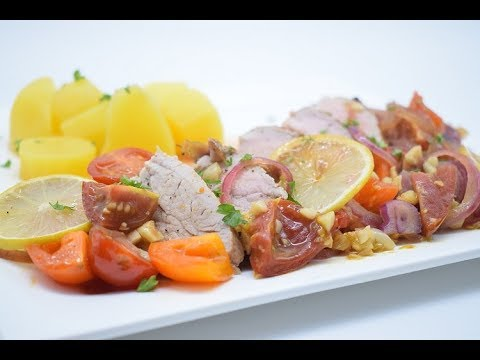 5 ingredients one pan Tuscan pork loin, Gluten and grain free,suitable for paleo/whole 30 diet plans
