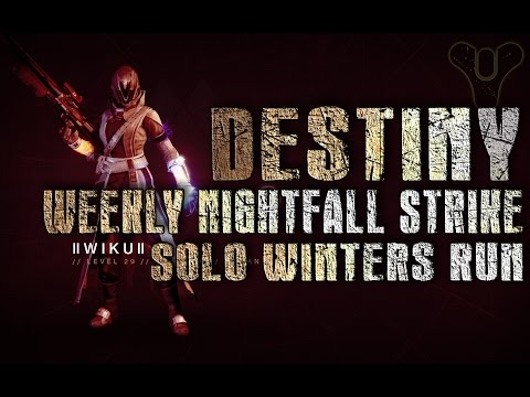 Solo Nightfall Strike Winters Run or How to Cheese Tactic the Archon Priest