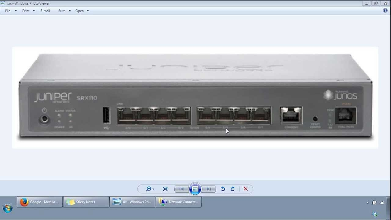 Juniper SRX Initial Configuration Get Started Video