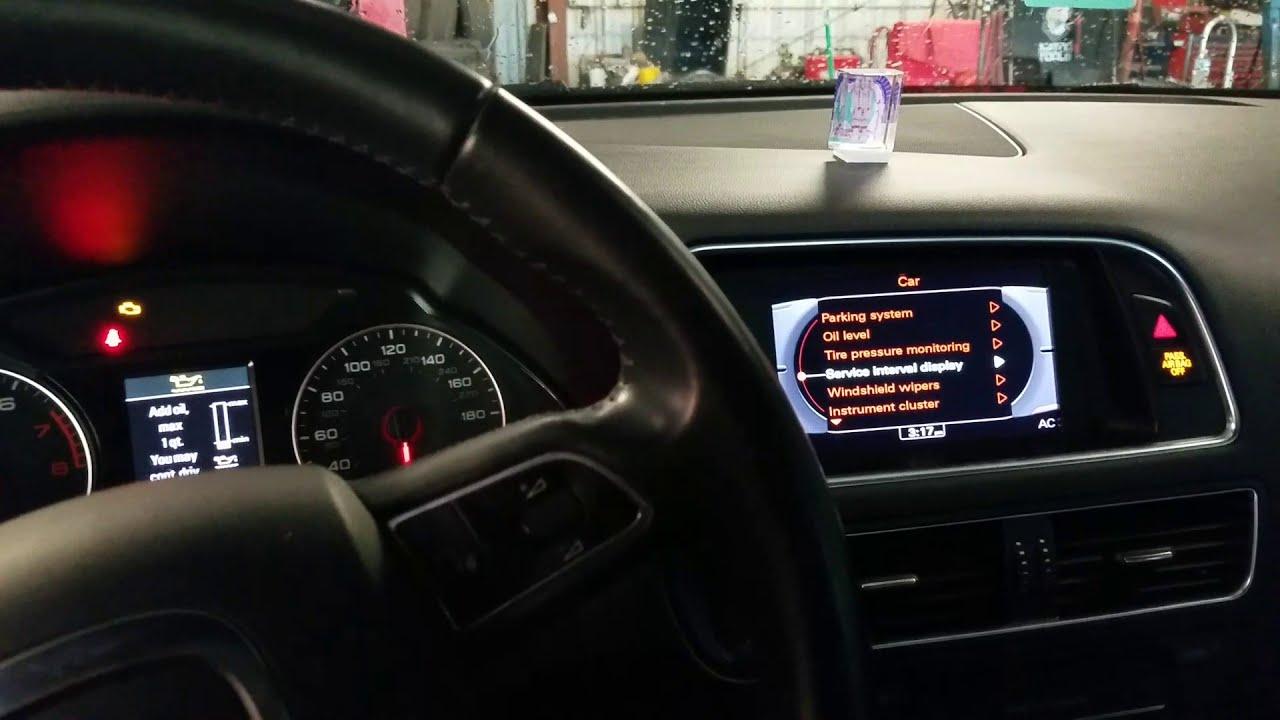 2008-2018 Audi Q5 SQ5 Oil Change Service Minder Light Reset