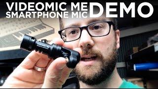 RØDE VideoMic Me iPhone Shotgun Mic Demo