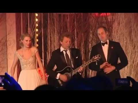 """Watch Prince William Sing """"Livin' on a Prayer"""" With Taylor Swift and Bon Jovi (Yes, This Is Real)"""