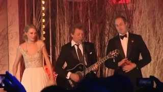 Taylor Swift, Bon Jovi, and Prince William sing