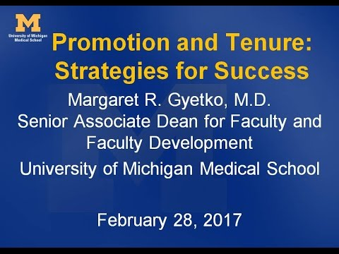 Promotion and Tenure: Strategies for Success