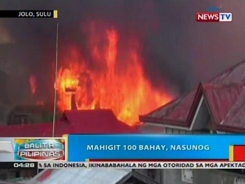 BP: Mahigit 100 bahay sa Jolo, Sulu, nasunog