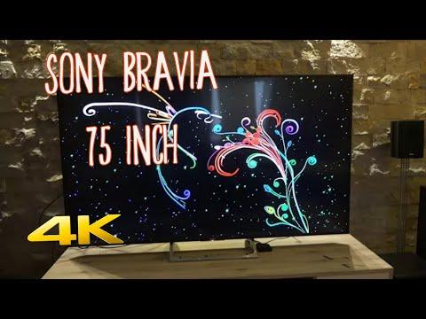 75 inch SONY BRAVIA KD 75XE8596 Unboxing 4K UHD