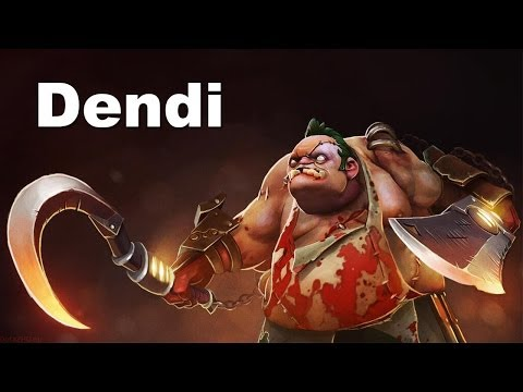 Dendi Pudge Hooks-Fails-Saves Dota 2