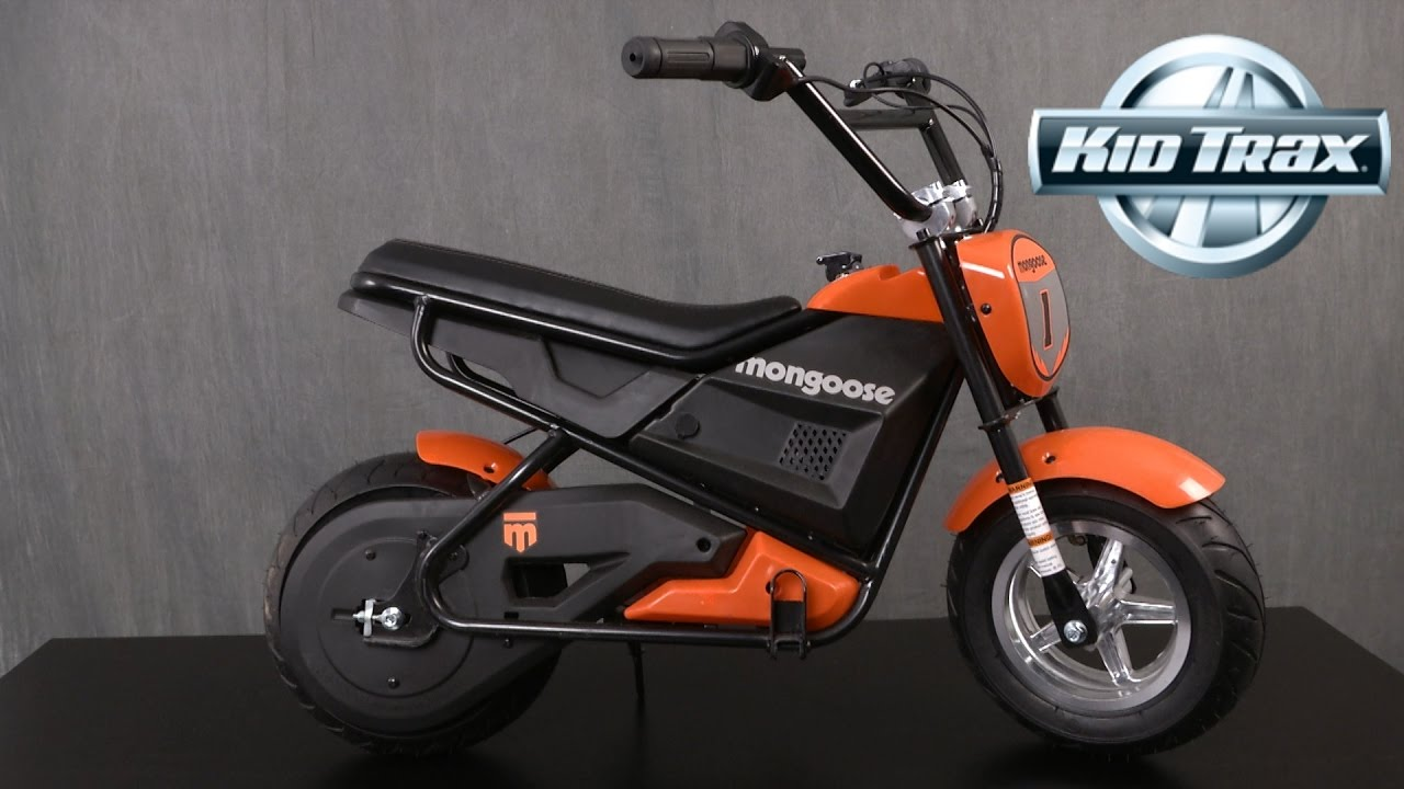mongoose mgx 250 rechargeable electric motorbike from kidtrax youtube rh youtube com 24 Volt Electric Scooter Wiring Diagram Electric Lawnmower Wiring-Diagram