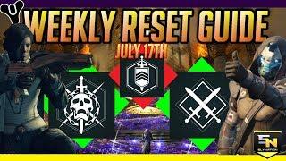 Destiny 2 | Weekly Reset Guide (July 17th update 1.2.3)- Prestige Raid Lairs, Bounties & More!