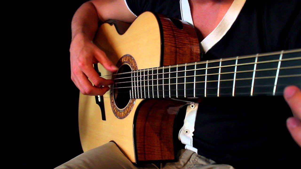how to play skyrim theme on guitar