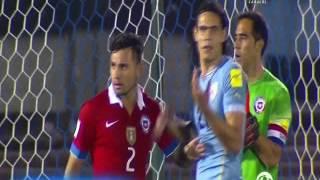 Uruguay 3 Chile 0 (Relato  Alberto Kesman)   Eliminatorias a Rusia 2018