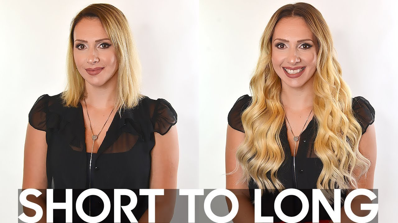 Clip extensions for short hair