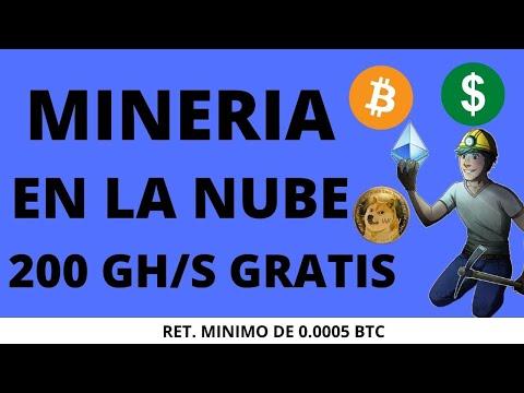 Mineria En La Nubes 200 Gh/s Gratis / Como Minar Bitcoin Gratis