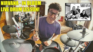 Live Stream Drum Lesson #1 In Bloom by Nirvana