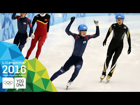 Short Track 500m - Kyunghwan Hong (KOR) wins Men's gold | Lillehammer 2016 Youth Olympic Games