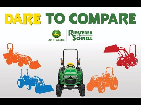 John Deere vs  Kubota B50 | Dare to Compare | Riesterer