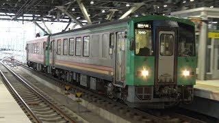 【4K】JR高山本線 普通列車キハ120形気動車 キハ120-347+キハ120-351 富山駅到着