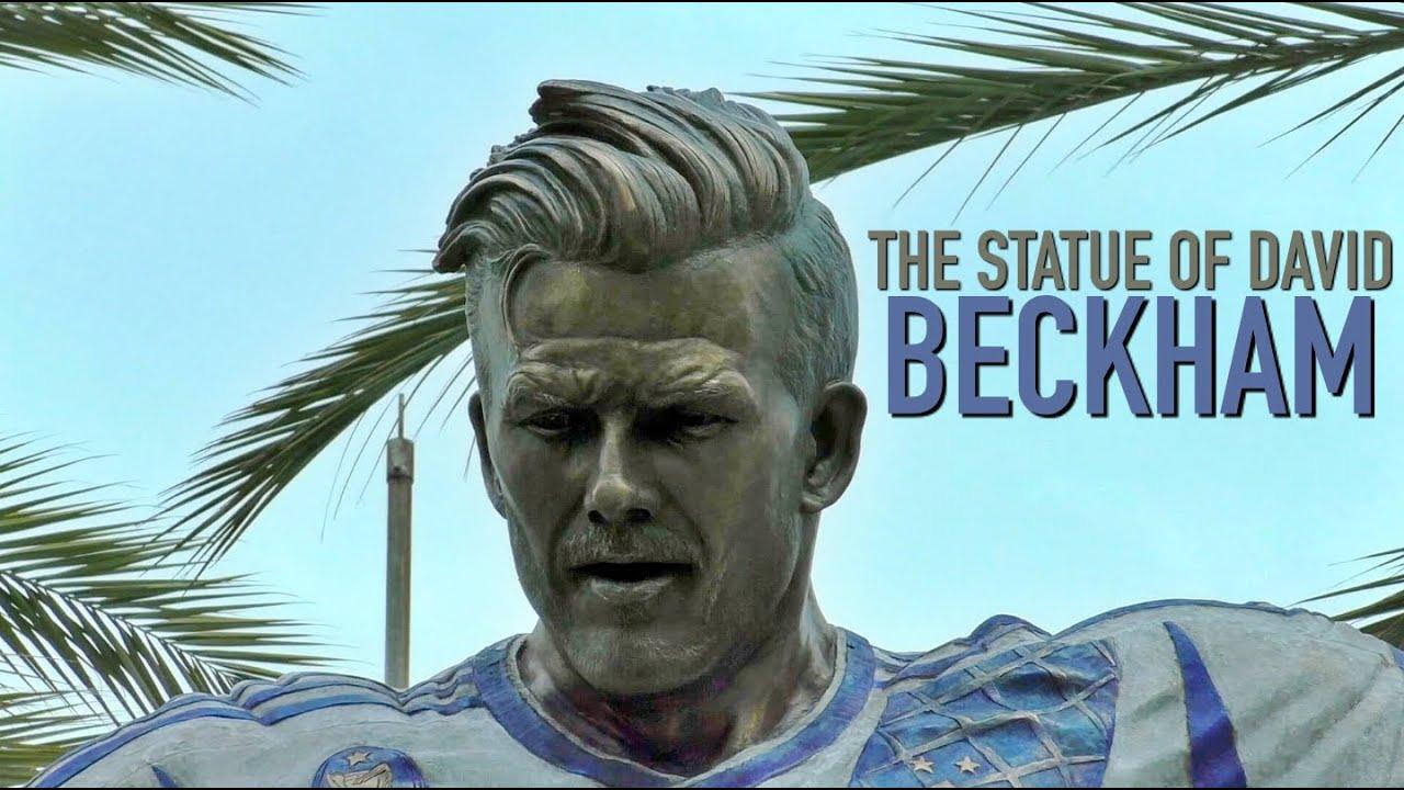 The Statue of DAVID BECKHAM | LA Galaxy Dignity Health ...
