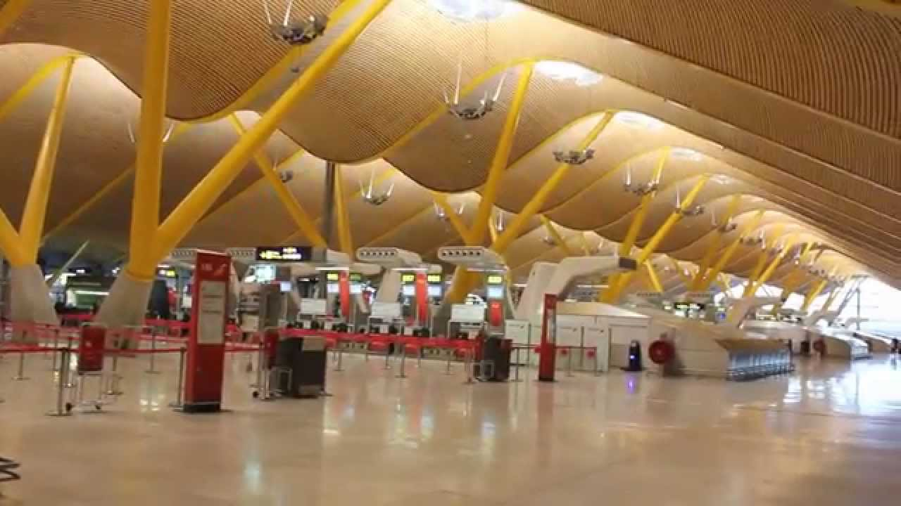 Madrid Barajas Airport - View of Terminal 4 - YouTube