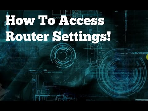 How To Access Router Settings
