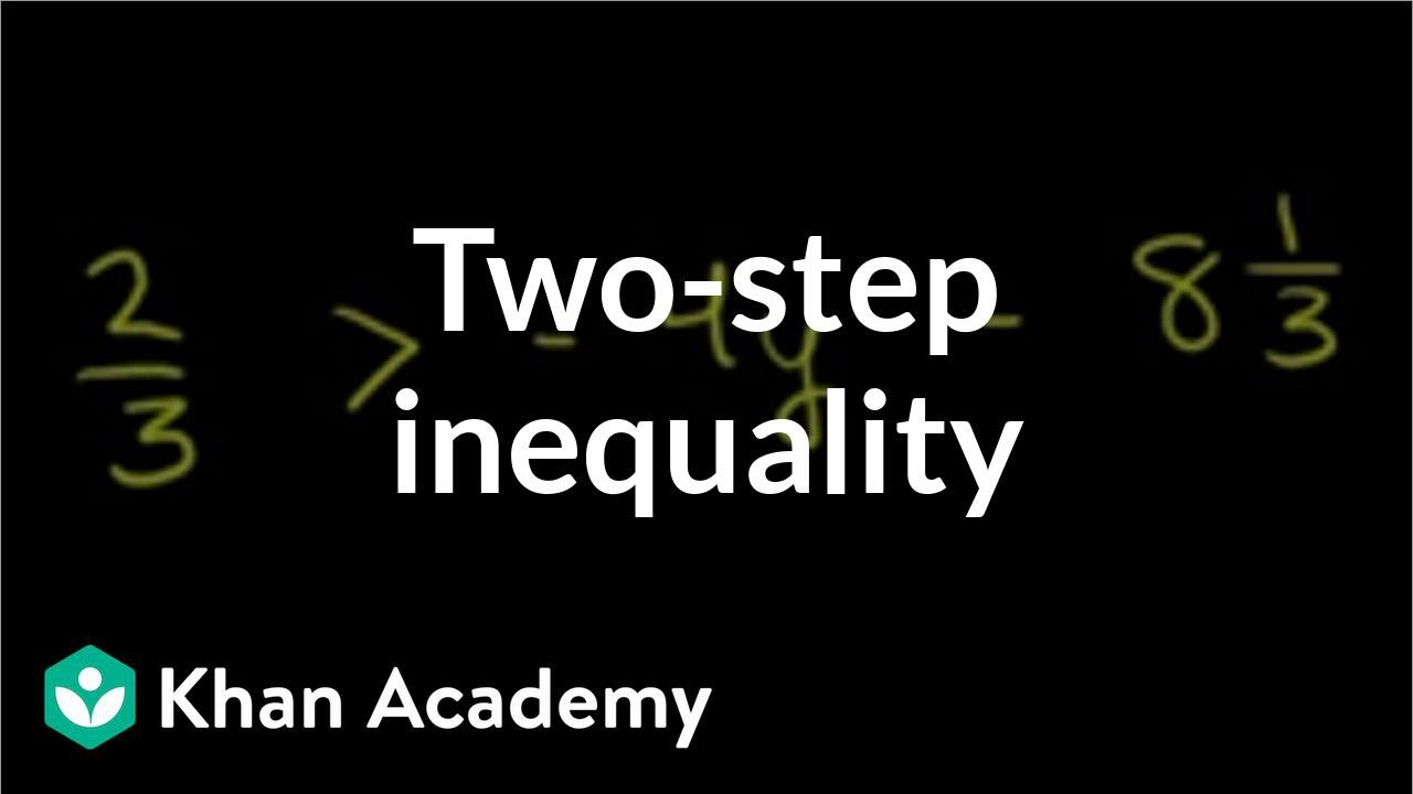 Solving a two-step inequality | Linear inequalities | Algebra I | Khan Academy