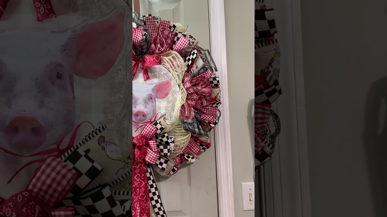 Finished 2020, Piglet Wreath