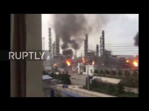 China: Eight dead as fire engulfs chemical plant in Shandong province