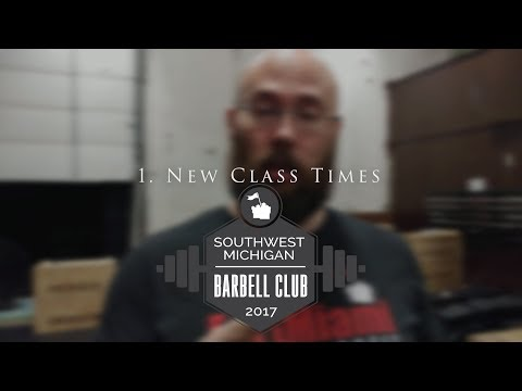 [Club News] New Class Times, Over-Training, Time Management