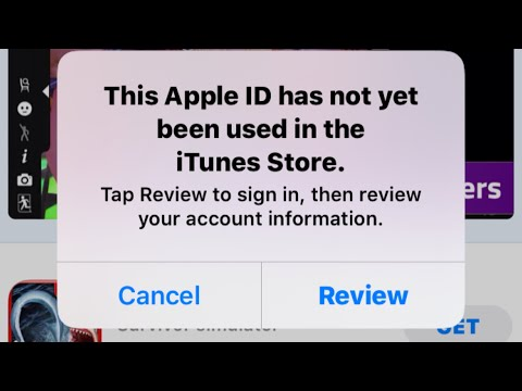 Review Apple ID ( Fixed This Apple ID Has Not Yet Been Used In The ITunes Store ( Latest 2021 )