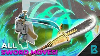 ALL SWORD MOVES! | RO-PIECE | ROBLOX