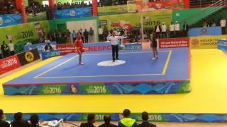 12th south Asian games 2016 wushu 52kg final Pakistan vs India