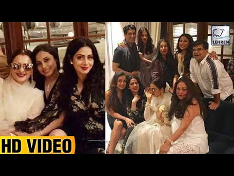 Thumbnail: Bollywood Celebrities Attend Sridevi's Birthday Bash | LehrenTV