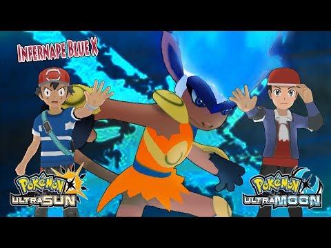 Pokemon Ultra Sun and Ultra Moon: Ash and Lucas Vs Dark Hero (Infernape Blue X)