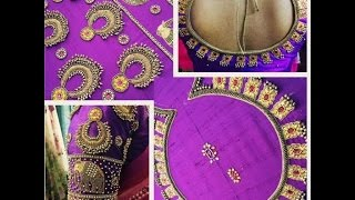 latest jewelry design work blouses