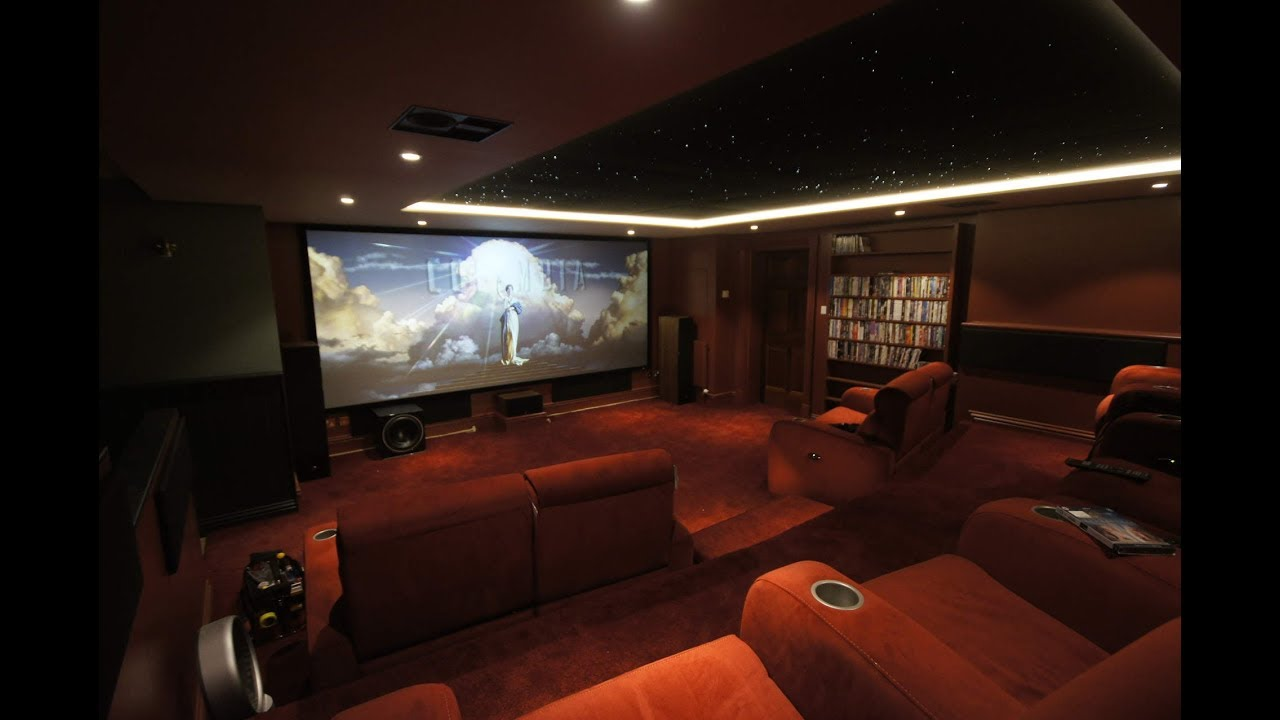 Best Kitchen Gallery: 4k Home Cinema Room Time Lapse Youtube of Home Theater Room on rachelxblog.com