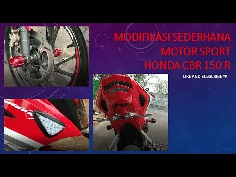 Modifikasi Sederhana Motor Sport Honda CBR 150 R 2018 Dan Harganya