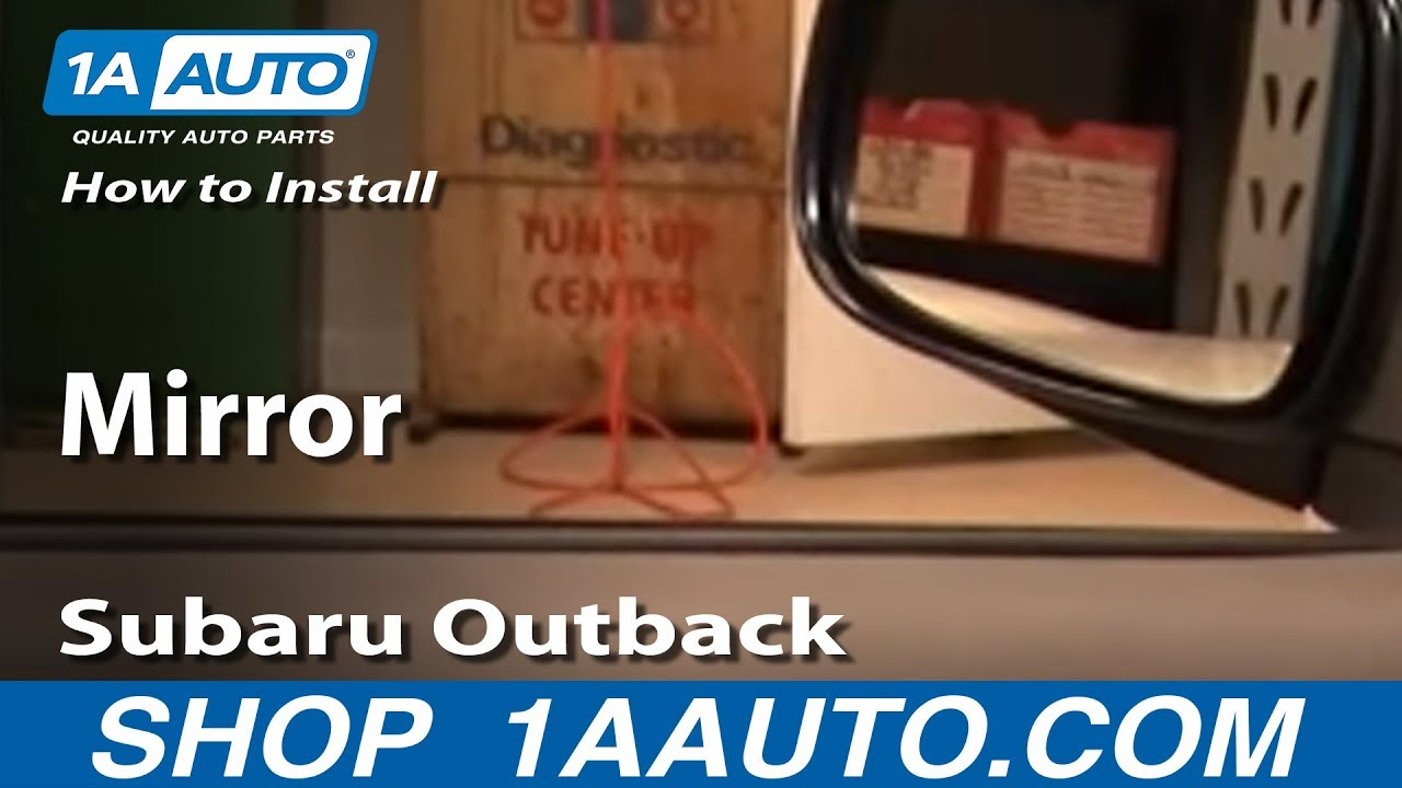 How To Install Replace Side Rear View Mirror Subaru