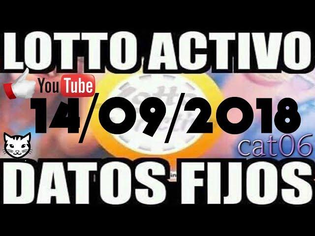 LOTTO ACTIVO DATOS FIJOS PARA GANAR  14/09/2018 cat06