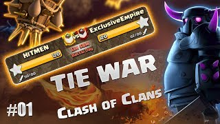 HITMEN vs ExclusiveEmpire! AMAZING TH11 Raids Clash Of Clans P01