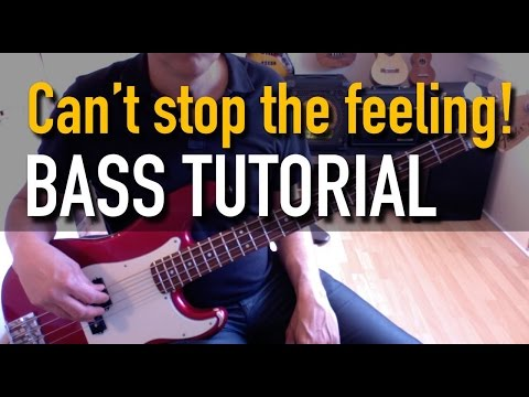 Justin Timberlake - Can't Stop The Feeling! - Bass tutorial with tab
