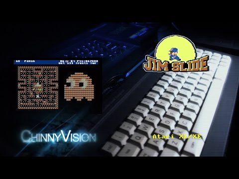 ChinnyVision - Ep 98 - Jim Slide - A New Game For The Atari XL/XE