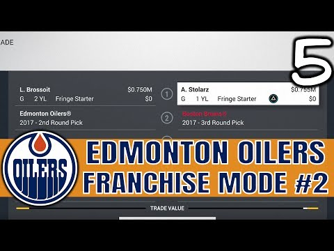 WE GOT FLEECED IN THIS TRADE! NHL 17 Edmonton Oilers Franchise Mode Ep 5