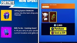 the GIFTING SYSTEM is NOW *ENABLED* in FORTNITE... (Fortnite Battle Royale - HOW to GIFT SKINS!)