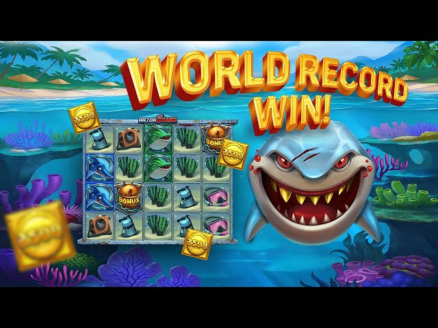 JACKPOT!!! RAZOR SHARK WORLD RECORD WIN - BIG WIN FROM UNKNOWN SWEDE ON PUSH GAMING SLOT