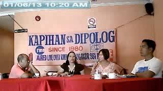 01-06-2013 RMN Kapihan sa Dipolog with Dapitan City Mayor PATRI B. CHAN