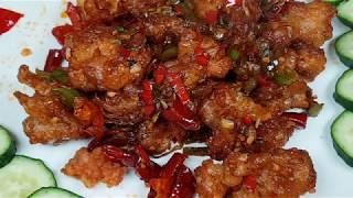 Острая курица по-китайски рецепт Spicy chinese fried chicken Kkanpunggi recipe 깐풍기