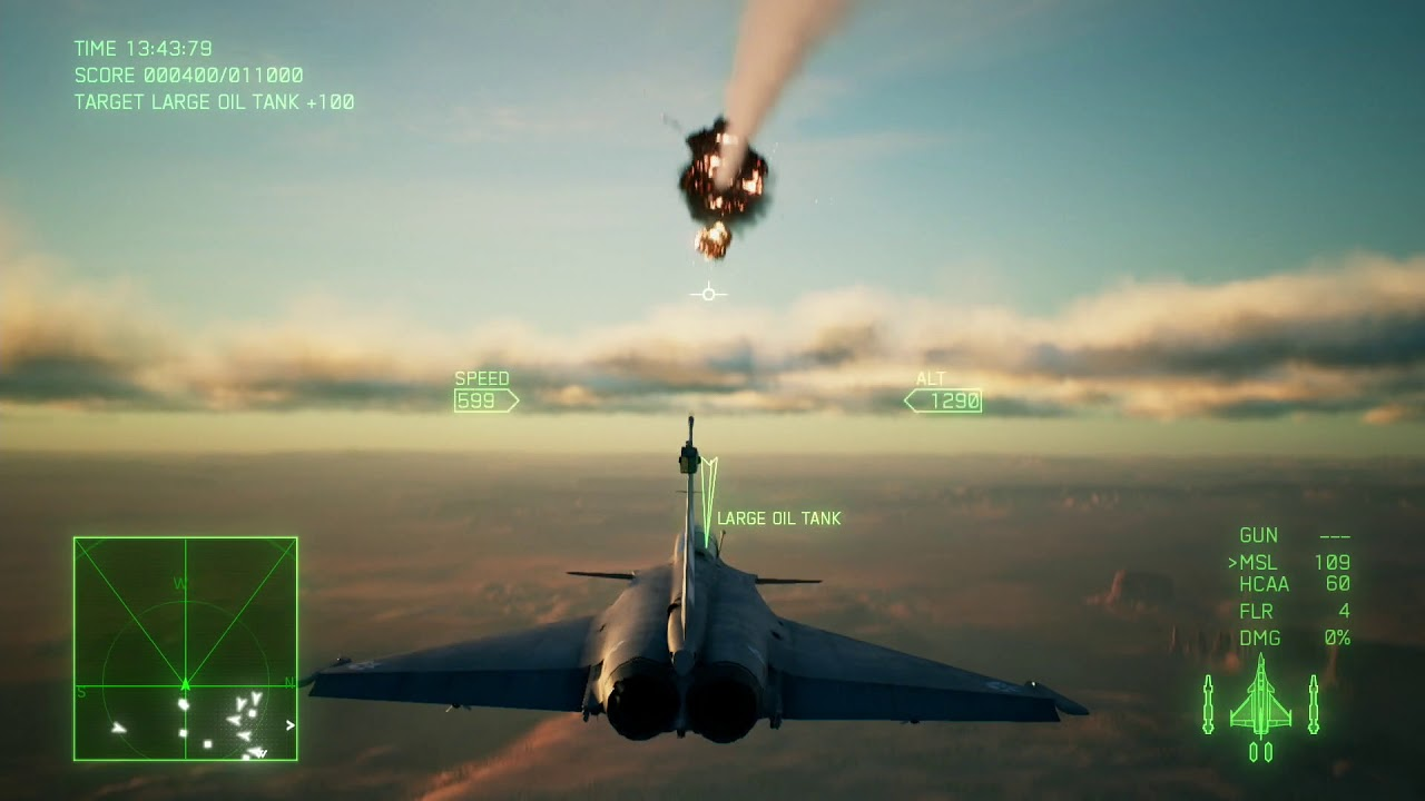 Ace Combat 7 Skies Unknown Rafale Live Gameplay Demo No Sound Due